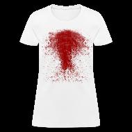 T-Shirts ~ Women's T-Shirt ~ BLOODY ZOMBIE SPLATTER WOMEN T-SHIRT - HALLOWEEN SALE $12.99