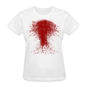 BLOODY ZOMBIE SPLATTER WOMEN T-SHIRT - HALLOWEEN SALE $12.99 - Women's T-Shirt