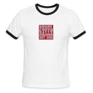 PhoulBallz Mens ringer T - Men's Ringer T-Shirt