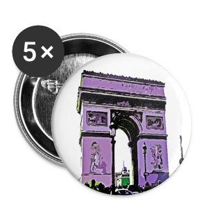Paris L'Arc de Tiomphe France graphic line art  Small buttons - Small Buttons