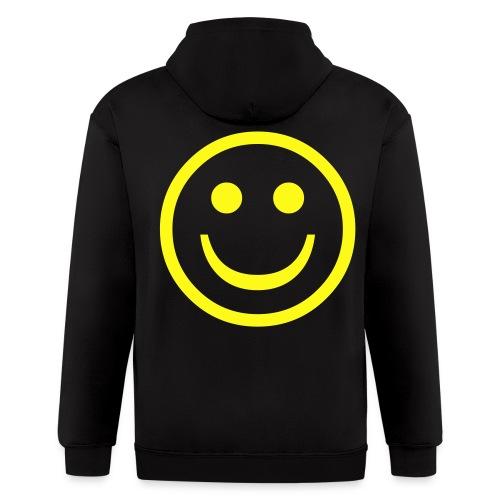 smiley hoodie - Men's Zip Hoodie