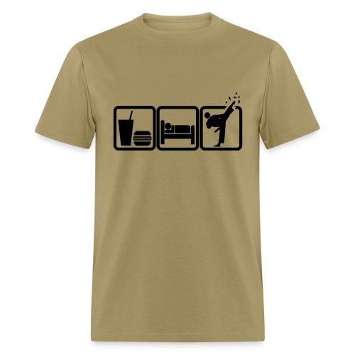 Eat - Sleep - Kick - Men's T-Shirt