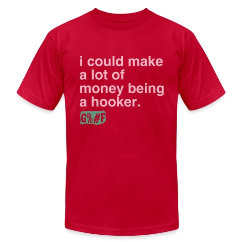 I am a hooker.. - Men's Fine Jersey T-Shirt