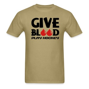 Give Blood Play Hockey Men's Standard Weight T-Shirt - Men's T-Shirt