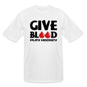Give Blood Play Hockey Men's Tall T-Shirt - Men's Tall T-Shirt