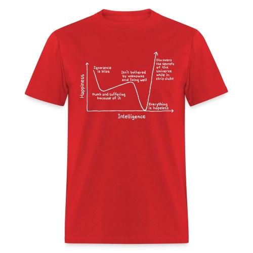 Happiness Versus Intelligence - Men's T-Shirt