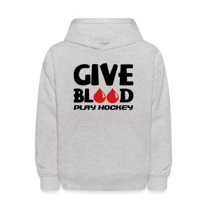Give Blood Play Hockey Children's Hoodie - Kids' Hoodie