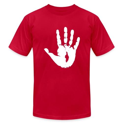 Jesus' Eternal Handprint - Men's  Jersey T-Shirt