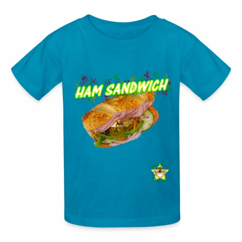 Monkey Pickles Ham Sandwich - Kids' T-Shirt