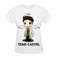 T-Shirts ~ Women's T-Shirt ~ Team Castiel White