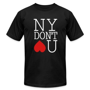 NY DONT LOVE YOU - Men's T-Shirt by American Apparel