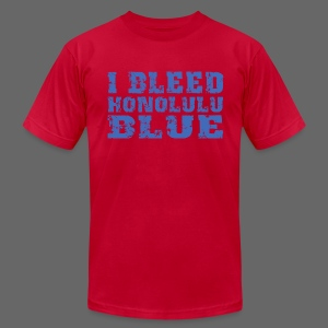 I Bleed Honolulu Blue - Men's T-Shirt by American Apparel