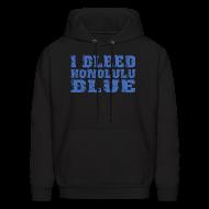 Hoodies ~ Men's Hoodie ~ I Bleed Honolulu Blue