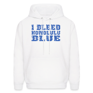 Hoodies ~ Men's Hoodie ~ I Bleed Honolulu Blue