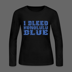 I Bleed Honolulu Blue - Women's Long Sleeve Jersey T-Shirt