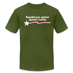Republicans United Against Reality - Men's T-Shirt by American Apparel