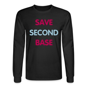 Men's Long Sleeve - Save 2nd base - Men's Long Sleeve T-Shirt