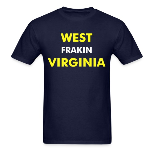 WEST FRAKIN VIRGINIA - plain back - Men's T-Shirt
