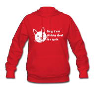 Hoodies ~ Women's Hoodie ~ Debbie: Thinking About Cats 2