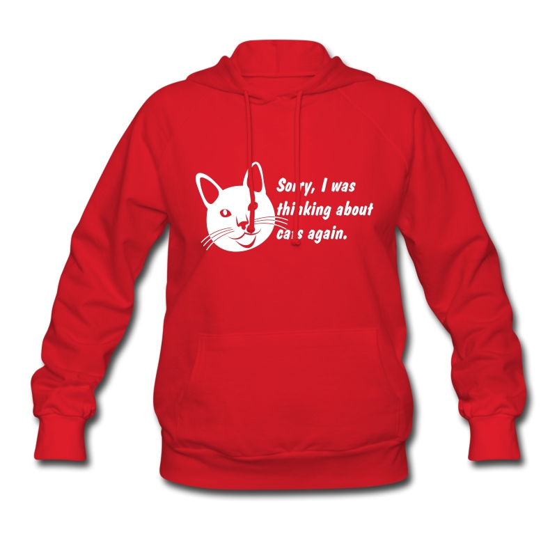 Debbie: Thinking About Cats 2 - Women's Hoodie