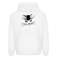 Hoodies ~ Men's Hoodie ~ Debbie: Thinking About Cats - Kitty Face