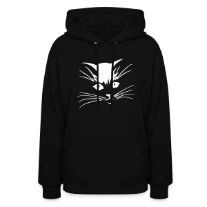 Debbie: Thinking About Cats - Kitty Face - Women's Hoodie