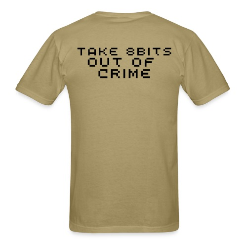 Take 8bits out of Crime - Men's T-Shirt