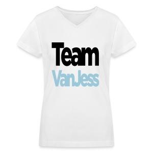 Team VanJess  - Women's V-Neck T-Shirt