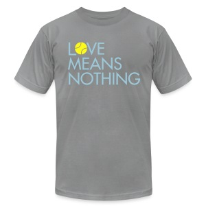 Love Means Nothing. Skimble Tennis Tee - Men's T-Shirt by American Apparel