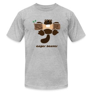 t-shirt beaver eager rodent otter wood forest teeth tree - Men's T-Shirt by American Apparel