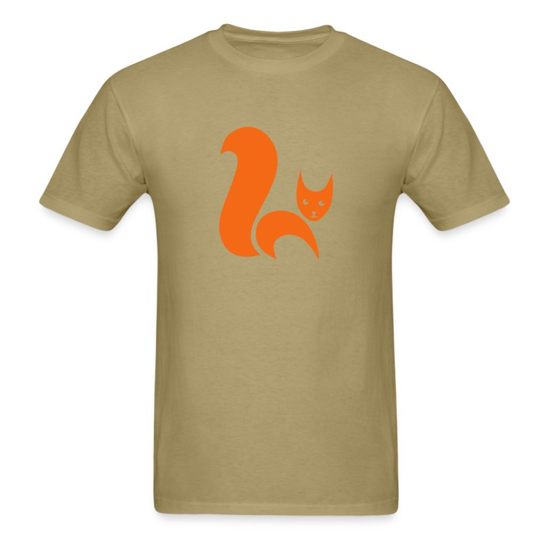 t-shirt fox foxy cat squirrel pussy kitten readhead tail chipmunk animal forest - Men's T-Shirt