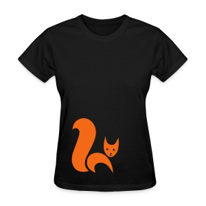 t-shirt fox foxy cat squirrel pussy kitten readhead tail chipmunk animal forest - Women's T-Shirt