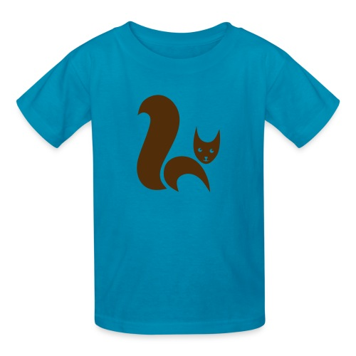 t-shirt fox foxy cat squirrel pussy kitten readhead tail chipmunk animal forest - Kids' T-Shirt