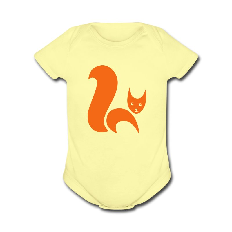 t-shirt fox foxy cat squirrel pussy kitten readhead tail chipmunk animal forest - Short Sleeve Baby Bodysuit