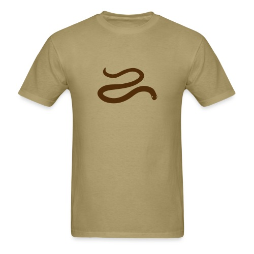 t-shirt snake worm blind slow adder viper desert reptile animal - Men's T-Shirt