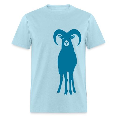 t-shirt sheep goat mountain ram horn horns aries jumbock bighorn buck billy goat animal - Men's T-Shirt