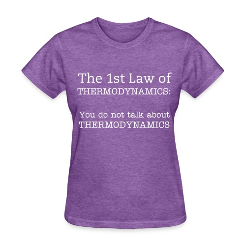 The 1st Law of Thermodynamics (Female) - Women's T-Shirt