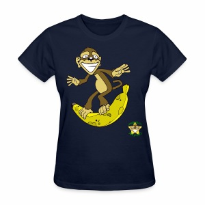 Monkey Pickles Surfs Up Bananers - Women's T-Shirt