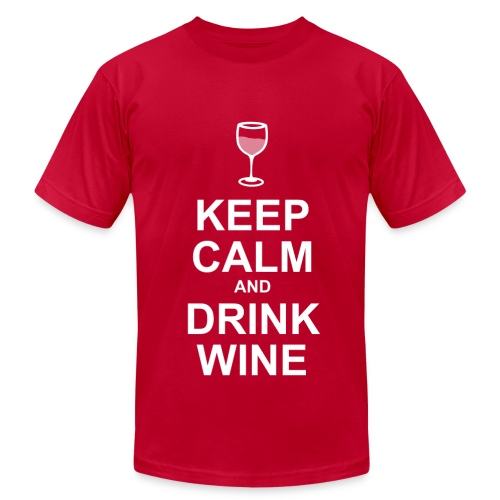KEEP CALM AND DRINK WINE - Men's Fine Jersey T-Shirt