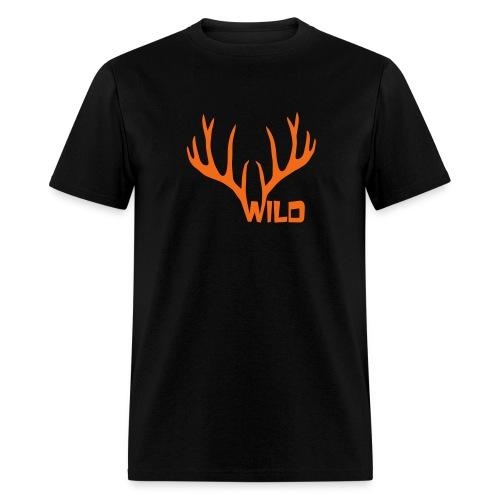 t-shirt wild stag deer moose elk antler antlers horn horns cervine hart bachelor party night hunter hunting - Men's T-Shirt