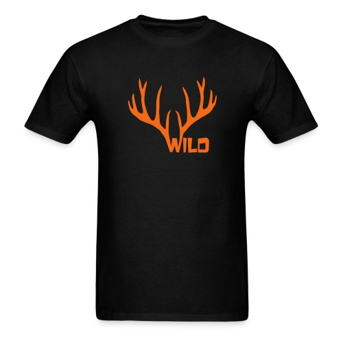 t-shirt wild stag deer moose elk antler antlers horn horns cervine hart bachelor party night hunter hunting - Men's T-Shirt