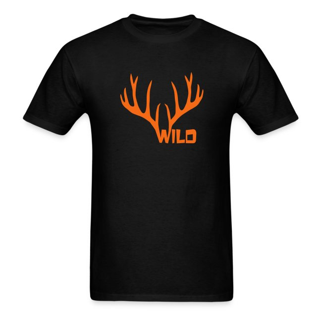 t-shirt wild stag deer moose elk antler antlers horn horns cervine hart bachelor party night hunter hunting