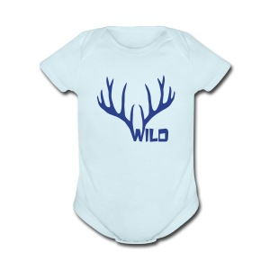 t-shirt wild stag deer moose elk antler antlers horn horns cervine hart bachelor party night hunter hunting - Short Sleeve Baby Bodysuit