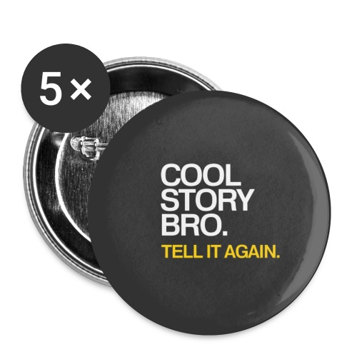 Cool Story Bro - Yellow - Small Buttons