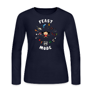 Long Sleeve Shirts ~ Women's Long Sleeve Jersey T-Shirt ~ Feast Mode (Long Sleeve)