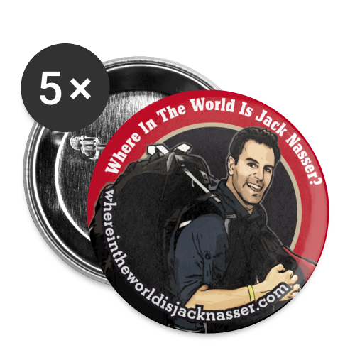 Where In The World Is Jack Nasser? - Buttons small 1'' (5-pack)