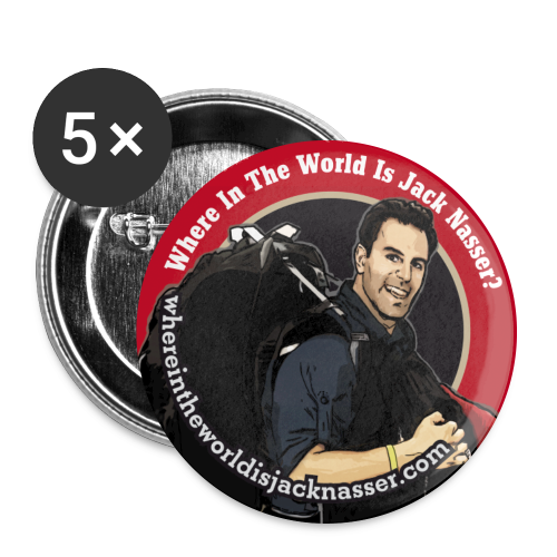 Where In The World Is Jack Nasser? - Buttons large 2.2'' (5-pack)