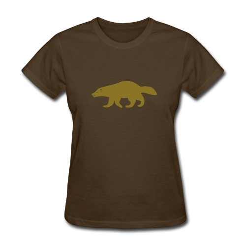 t-shirt wolverine glutton hog cormorant gannet eat greedy animal - Women's T-Shirt