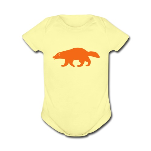 baby one piece wolverine glutton hog cormorant gannet eat greedy animal - Organic Short Sleeve Baby Bodysuit