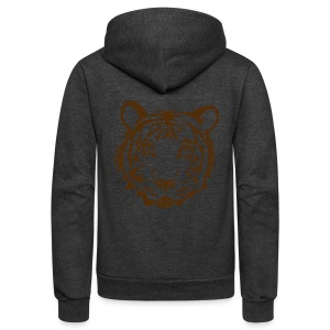 t-shirt tiger wild cat predator hunter hunting animal lion cheetah - Unisex Fleece Zip Hoodie by American Apparel